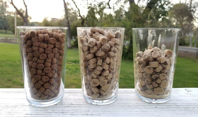 Moistened Food vs. Dry Food