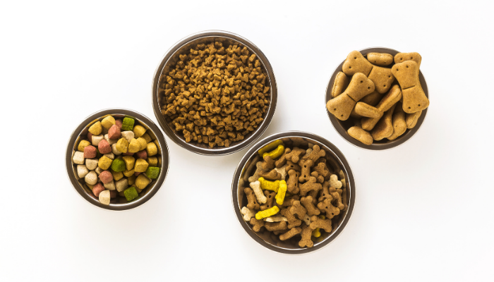 Different dog foods
