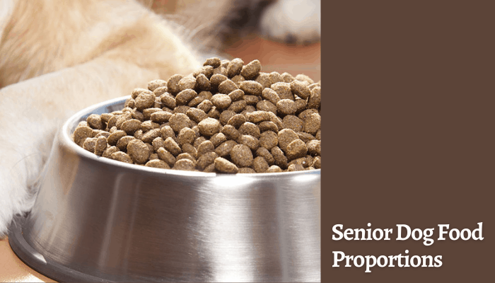 Senior Dog Food Proportions